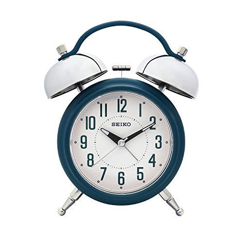 Seiko Blue Alarm Table Clock Qhk051Ln (18 X 14 cm)
