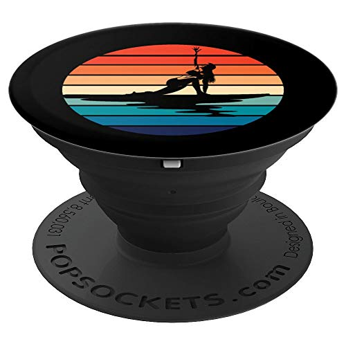 Yoga SUP Paddleboarder Gift Idea PopSockets Grip and Stand for Phones and Tablets