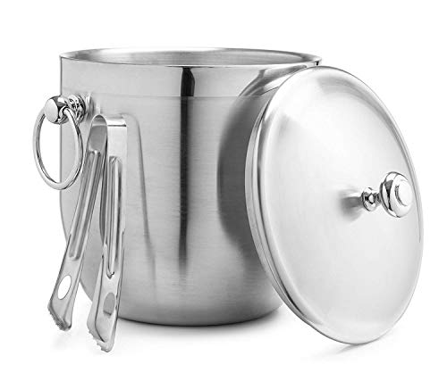 Bellemain 3 Liter Insulated Stainless Steel Ice Bucket with Bonus