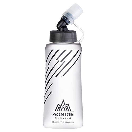 szkn - Botella de agua plegable para correr, maratón, ciclismo, senderismo, color Sd21 250 ml., tamaño tamaño único