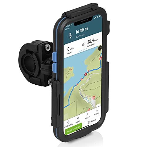 Wicked Chili Tour Case 3.0 kompatibel mit iPhone 12/12 Pro wasserdicht 360 Grad Kugelgelenk Halterung | Schutzhülle passgenau und abnehmbar | Displayschutz Handyhalterung für Fahrrad und Motorrad