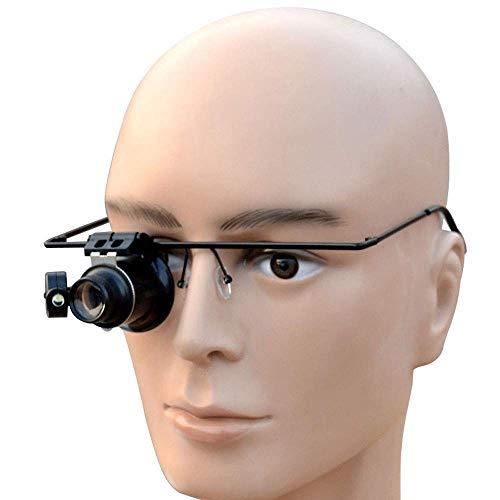 LKK-KK Máscara 20X Tiempos de Ojos de luz LED vidrios de la reparación de Cristal Herramienta de identificación de la Gema de la antigüedad