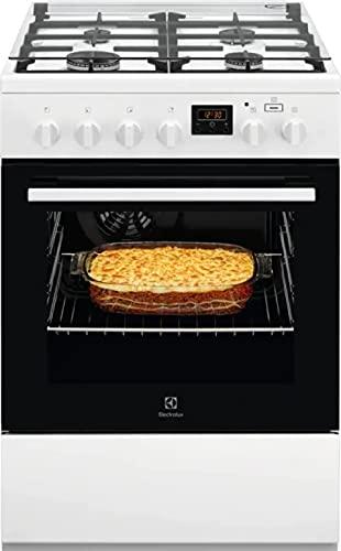 Electrolux LKK640200W – Cocina de gas con horno eléctrico 60 x 60 cm Clase A Blanco