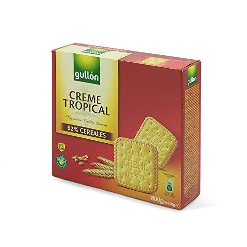 Gullón Galleta Creme Tropical Pack de 4, 800g