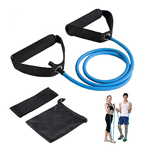 XLW Resistance Bands, Workout Bands - Includes Single Exercise Band, Cushioned Handles, Door Anchor & Advanced Manual for Resistance Training, Physical Therapy, Home Workouts(25lbs)