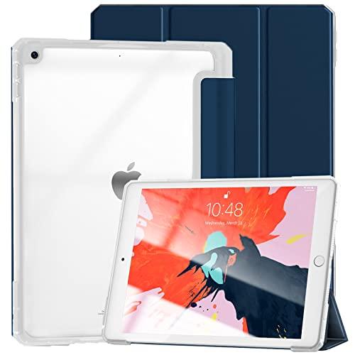 Gahwa Funda para iPad 10,2 Pulgadas 2021 (9.a generación)/2020 (8.a generación)/2019 (7.a generación), Carcasa con Auto-Sueño/ Estela, Case Cover Delgado Carcasa con Soporte Función - Azul Marino