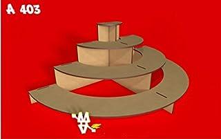 Kit para hacer tribuna semicircular porta cupcakes de madera DM para candy bar mesa dulce.