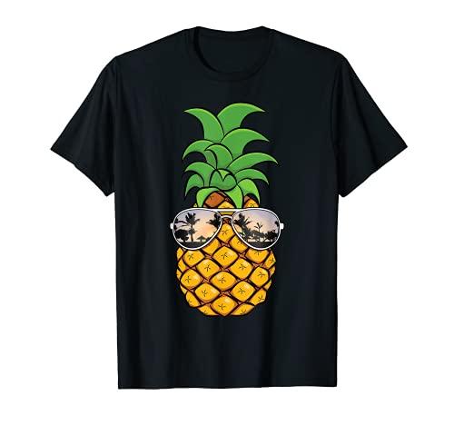 Pineapple Sunglasses Hawaiian Gift   Funny Beach Vacation T-Shirt