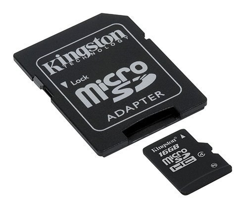 Professional Kingston 16GB MicroSDHC Card for Alcatel OneTouch Retro with custom formatting and Standard SD Adapter! (Class 4)