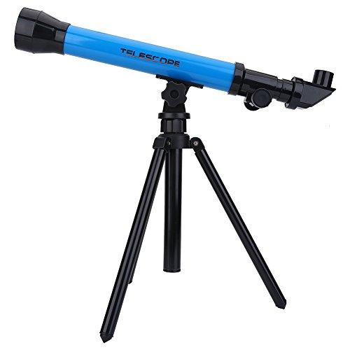 Astronomisches Teleskop, Kinder Kinder Pädagogisches Geschenk Spielzeug 20X 40X 60X Monokulares Weltraum-Astronomisches Teleskop mit Stativ(Blau)