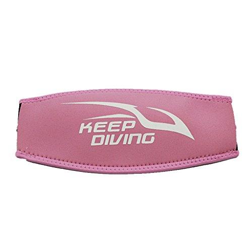 Neopren Maskenband - Tauchmaskenband, universal und Komfort - Rosa