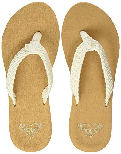 Roxy Porto, Zapatos de Playa y Piscina para Mujer, Blanco (Natural Nat), 38 EU