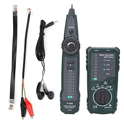 Kabeltester, Akozon FY868 Handheld Telefonnetz Kabelfinder RJ45 RJ11 Lan Wire Tracker Kit Power Probe Kurzschluss Tester Stromkreistester Durchgangsprüfung