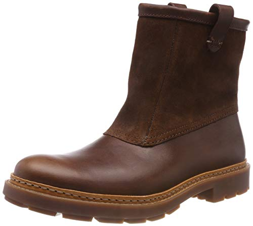 Clarks Trace Top, Botas Slouch para Hombre, Marrón (Mahogany Leather), 40 EU