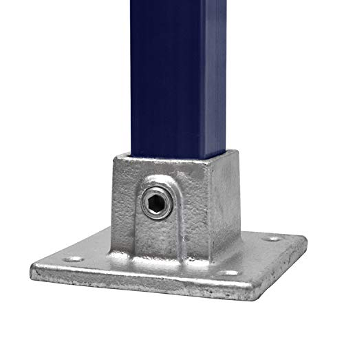 KLEMP Accesorio de tubería cuadrada para la placa base tubería cuadrada de hierro fundido maleable de 40x40 mm Tipo 10S-40x40 mm