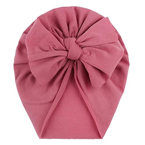 WXDC Sombrero con Diadema para bebé, Turbante con Estampado de Lazo, Sombrero Anudado con Lazo sólido para niños pequeños y niñas