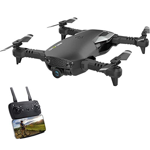 Kikioo RC Foldable Four-axis Drone Helicopter with Camera Live Video - 720P 4K WiFi FPV Quadcopter, Hold Altitude,Headless Mode,3D Flips,One Button Take Off/Landing Best Choice for Beginners