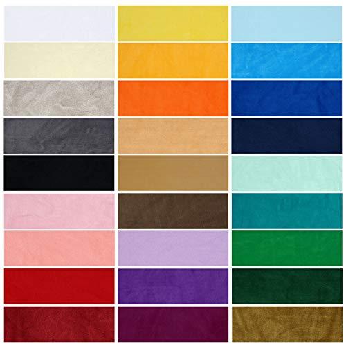 Velour Polar Fleece Anti Pill Fabric, kwaliteitsmateriaal. 28 kleuren, gemiddeld gewicht, geweldige drapering en handvat. Natural, Huisdecoratie en ambachten. Turquoise #33, 10x10cm