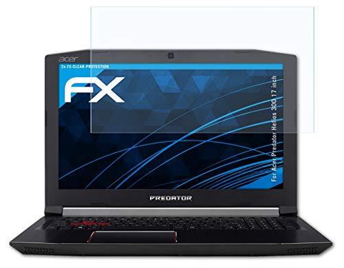 atFolix Schutzfolie kompatibel mit Acer Predator Helios 300 17 inch Folie, ultraklare FX Bildschirmschutzfolie (2X)