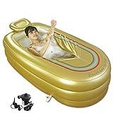 LJQLXJ bañera Bañera inflable Adulto Espesar Bañera plegable Inicio SPA Bañera de aislamiento de plástico con cojín, 1