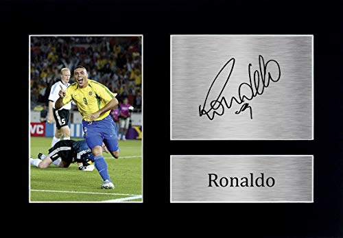 HWC Trading Ronaldo A4 Ungerahmt Signiert Gedruckt Autogramme Bild Druck-Fotoanzeige Geschenk Für Brazil Fußball Fans