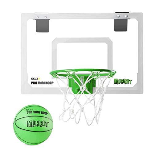 SKLZ Unisex Adult, Youth and Child Basketballkorb Pro Mini Hoop Midnight, schwarz/gelb, One size