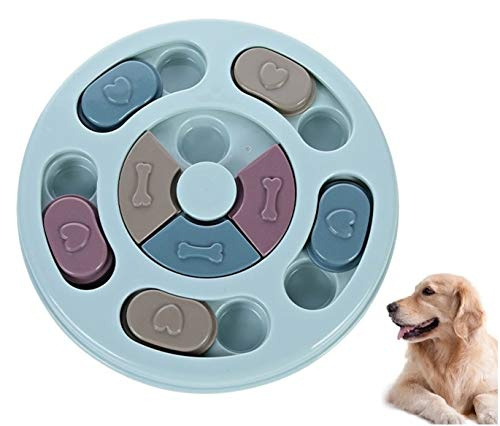 Dog Interactive Feeder Bowl Dog Slow Feeder Puzzle Toy Dog Play Hide and Seek IQ Food Training Game for Pet Dogs Puppy Cats Prevent Boredom and Upset