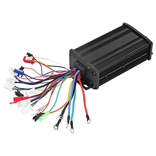 gostcai Controlador sin escobillas de Motor, Scooter eléctrico de Aluminio silencioso sinusoide de 600 vatios, Kit de Controlador sin escobillas de Scooter eléctrico con Alarma antirrobo.(48V)