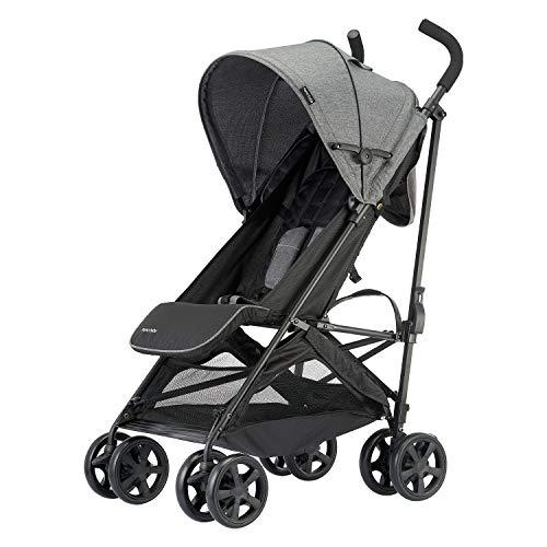 Lightweight Baby Stroller with Storage Basket, Umbrella Stroller for Toddler,Foldable and Compact Travel Stroller for Infant,(Grey)