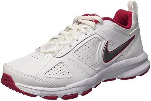 Nike Damen T-Lite XI Hallenschuhe, Weiß (White/Metallic Silver-Fuchsia Force), 42 EU