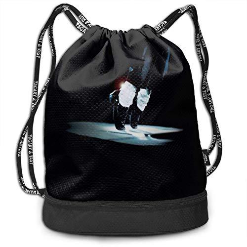 Celebrity Michael Jason Drstring Bags Multifunction Bundle Bapa Large Capacity Lightweight Simple Portable Funny Handbag,for Women Kids School Gym Travel (Polyester)