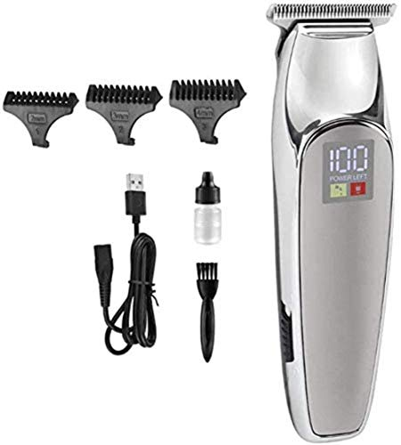 FFANY Draadloze tondeuse professionele elektrische Fade Hair Trimmers Set Detailer Close Cutter Oplaadbare USB T-Blade Beard Edger Kit For Men