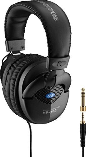 JTS HP-565 professionele studio-hoofdtelefoon met uitstekende geluidskwaliteit, half-open over-ear systeem met rijke basweergave, in zwart