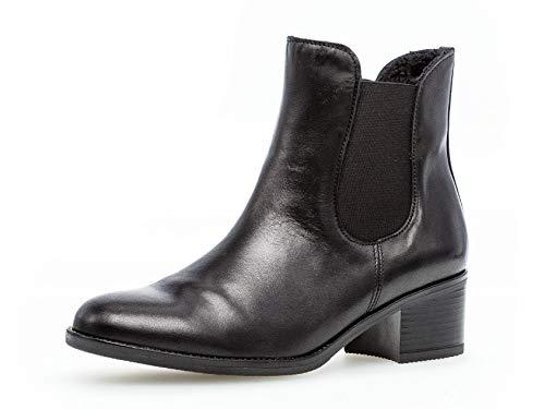 Gabor Damen Chelsea Boots 31.650, Frauen Stiefelette,Stiefel,Halbstiefel,Schlupfstiefel,gefüttert,Winterstiefeletten,schwarz,39 EU / 6 UK