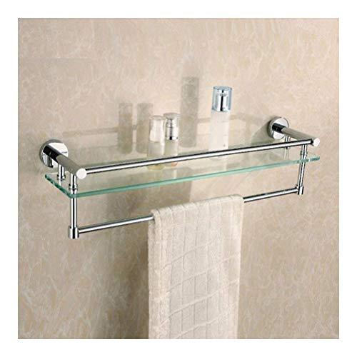 ZWJ Douchecabine voor de badkamer, van gehard glas, aluminium, met handdoekhouder, voor badkamer IG