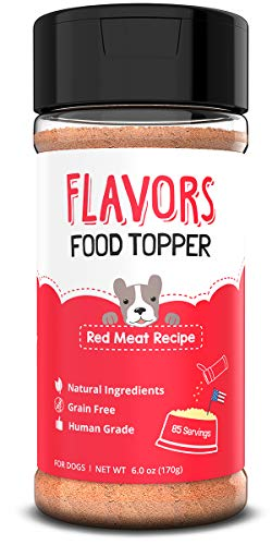Beaumont Basics Flavors Food Topper and Gravy for Dogs - Natural, Human Grade, Grain Free - Perfect Kibble Seasoning, Sprinkle and Hydrating Treat Mix for Picky Dog or Puppy (Red Meat, 6.0oz)