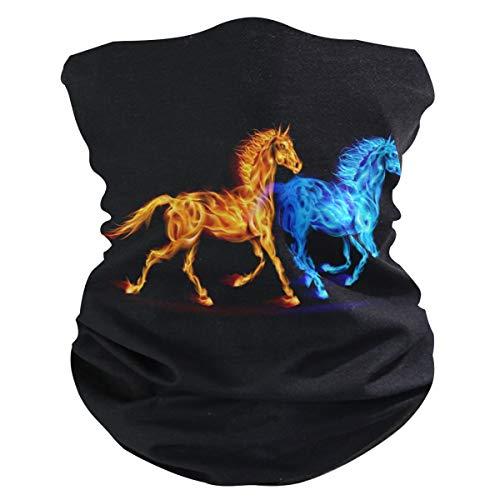 Alarge - Pañuelo para la cabeza, suave, abstracto, para el fuego, diseño de caballo, transpirable, bandana para la cara y el polvo, pasamontañas para niños, niñas y niños