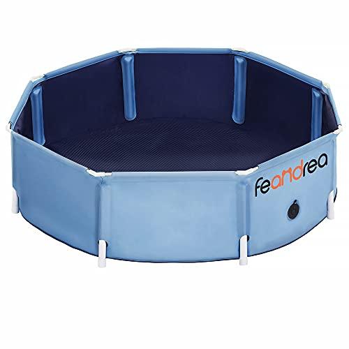 FEANDREA Hundepool, Swimmingpool für Haustier, Hundebad, faltbar, blau PDP002Q01