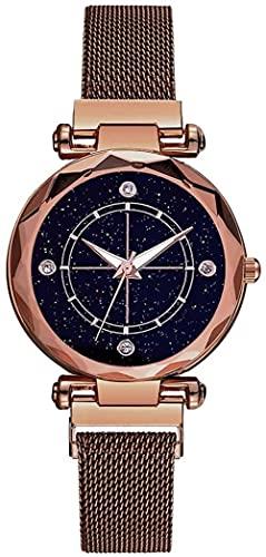 JZDH Reloj de Pulsera, Reloj Redondo de 40 mm Dial Starry Sky. Material de aleación 3ATM Reloj Deportivo Impermeable