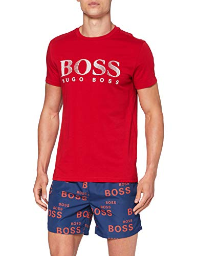 BOSS Herren T-shirt Rn T Shirt, Rot (Medium Red611), S EU