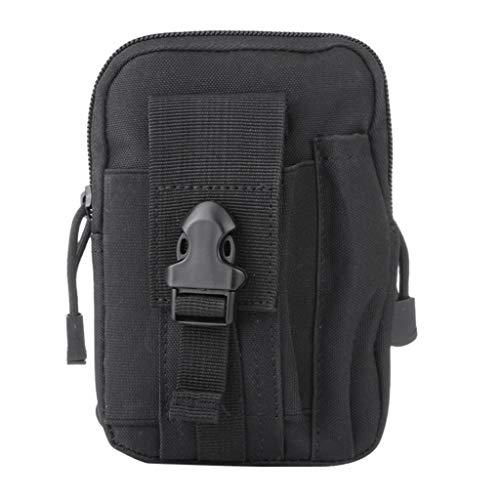 Taktische Hüfttaschen für Herren/Skxinn Männer Sport Tasche Gürteltasche, Outdoor Beutel Taille Taschen für Gadget-Dienstprogramm Handy Camping Wandern und Reisen Ausverkauf(Schwarz)