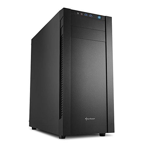 Sharkoon s25-v - Caja de Ordenador, pc Gaming, semitorre ATX, Negro.