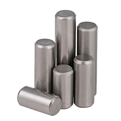 M1.5 M2 M2.5 M3 M4 M5 M6 M8 Zylinderstift Zentrierstift 304 Edelstahl, M2,5mm (50Pcs)