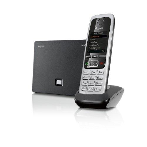 Gigaset C430A IP Hybrid-Dect-Schnurlostelefonmit Anrufbeantworter, analog und VoIP (ALL-IP), schwarz