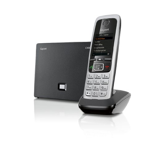 Gigaset C430 IP Hybrid-Dect - Schnurlostelefon, analog und VoIP (ALL-IP), schwarz