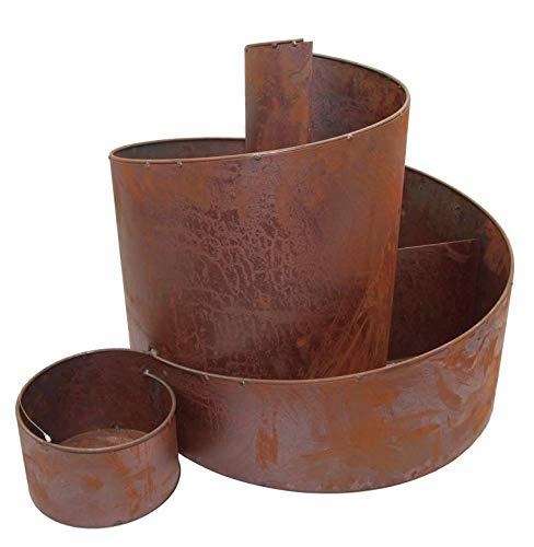 Kräuterschnecke Kräuterspirale Hochbeet Edelrost Ø 58 cm