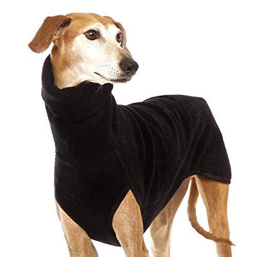 LIUCHANG Collar mediano grande para perros grandes, gran danés, galgo, Pitbull, ropa para mascotas (color: negro, talla: XL) liuchang20