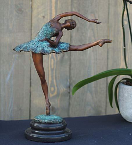 H. Packmor GmbH Bronzen sculptuur grote danseres Ballerina decoratiefiguur voor de woonkamer