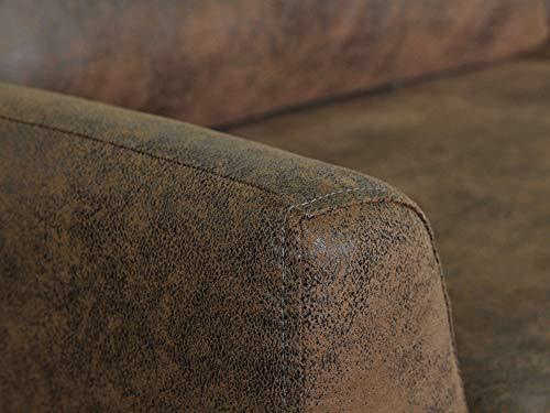 Canapé droit 3 places Microfibre Design