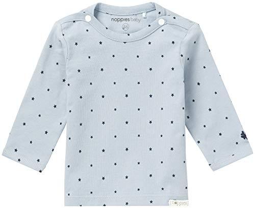 Noppies B tee LS Novara Camiseta de Manga Larga, Azul grisáceo, 50 cm para Bebés